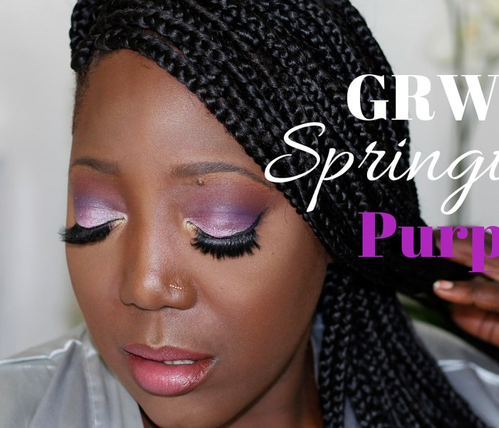 GRWM: Springtime Purple