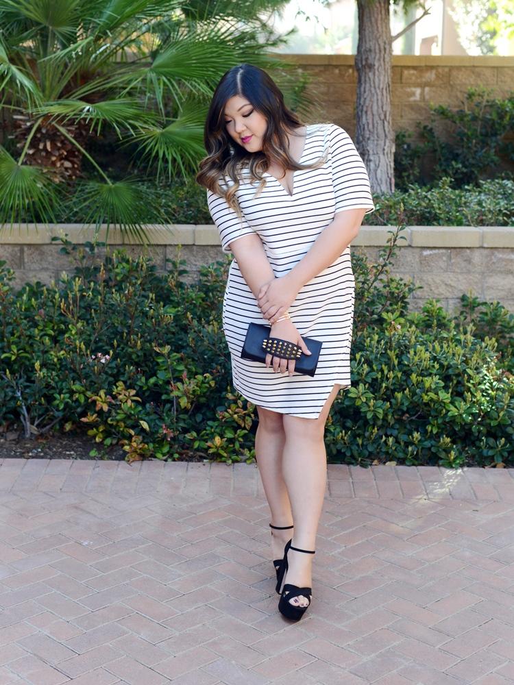 Curvy Girl Chic Stripes, Fashion taboos, Naturally Fashionable all white, Plus Size, Fashion, Plus Size Fashion, Plus Size Bloggers, Plus Size, Glamour Magazine, Style, Style blog, Curvy, Curvy Fashion, Wearing white, Prints, Stripes, Curvy Girl Chic, Trendy Curvy, Nicolette Mason, Gabifresh