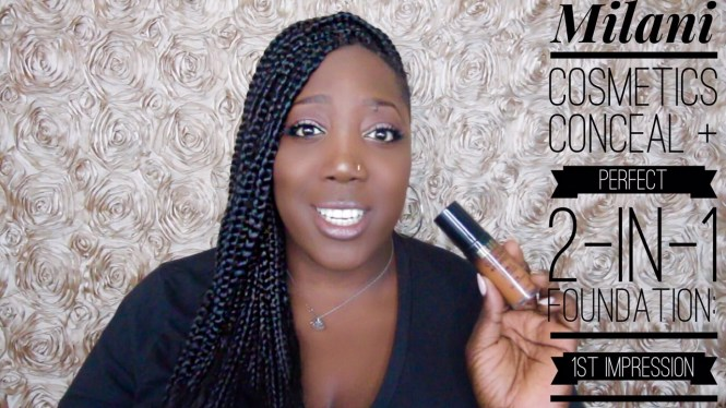 Milani cosmetics, conceal and Perfect, 2-in-1, foundation, makeup, dark skin, women of color,