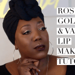 YouTube // Rose Gold Eyes and Vampy Lip