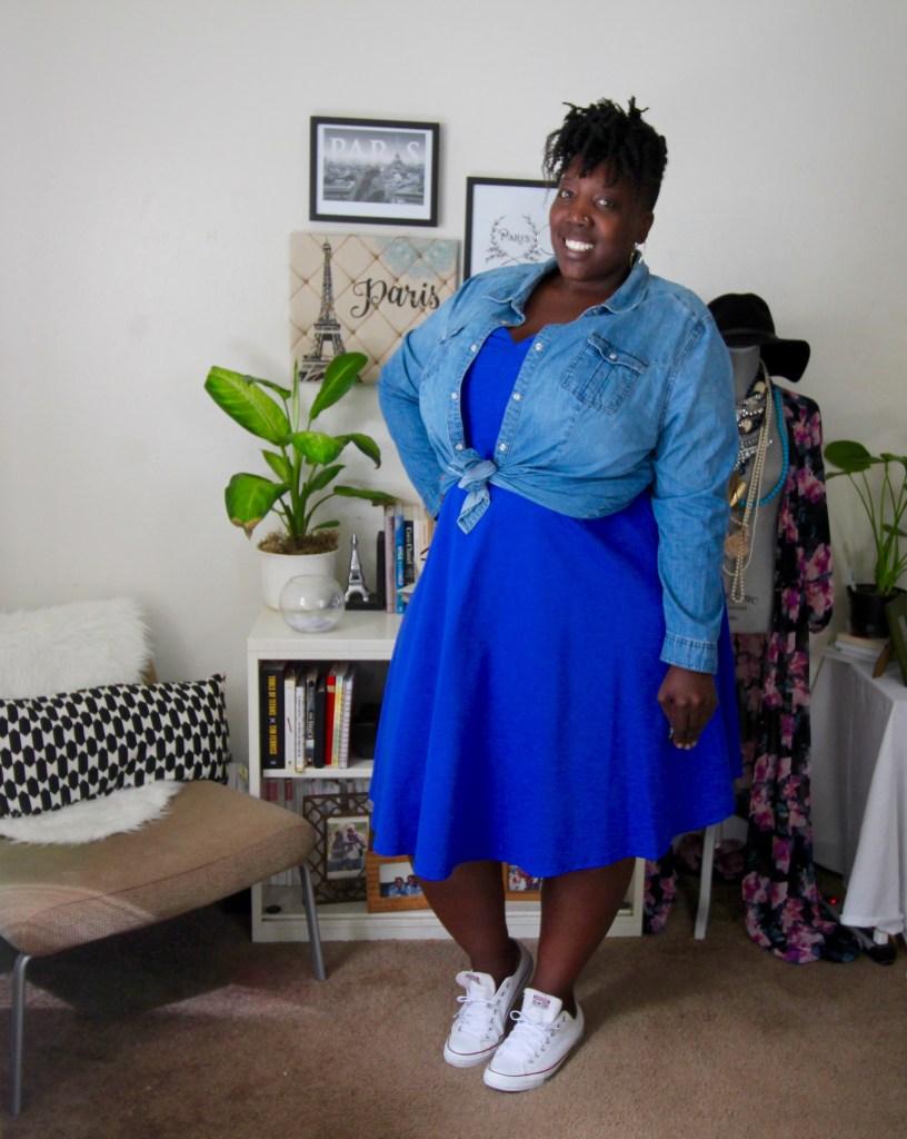 Fit and Flare, Dress, Plus Size Dress, Plus Size Fashion, Eloquii, Spring Fashion, One Dress Three Ways, Jana'e Michelle, This Curvy Girls Life, Plus Size Fashion Blog, Fashion Blog