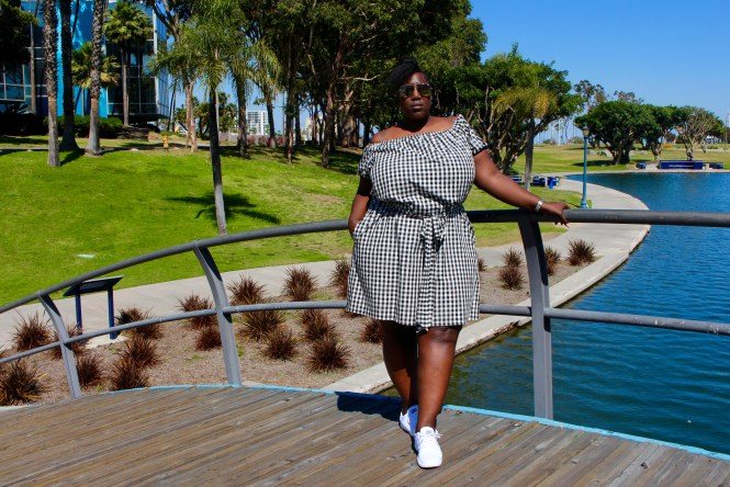 Gingham, Target, Target Style, Plus Size, Fashion, Plus Size Clothing, Who What Wear, Who What Wear Collection, Fashion, Vans, Summer Trend, Off the shoulder dress, Jana'e Michelle, This Curvy Girls Life