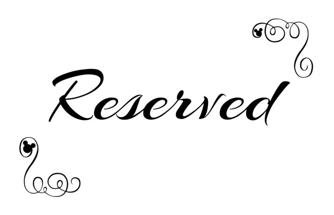 Free Reserved Seating Signs Template | www.microfinanceindia.org