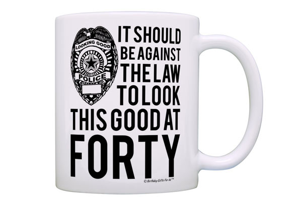 40th birthday gift ideas for men mug
