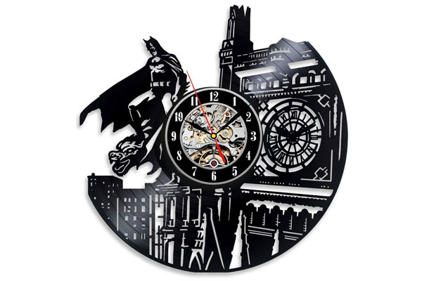 batman gifts for men vinyl clock