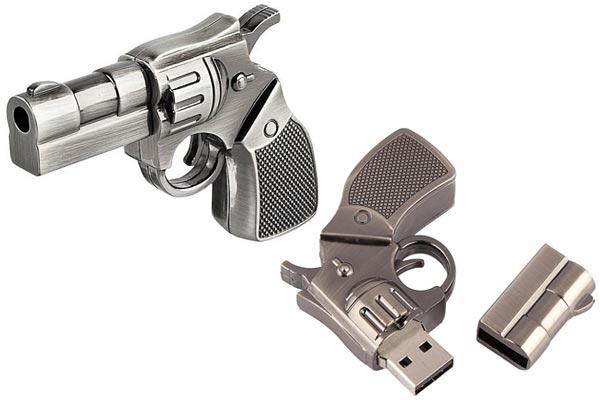 small gifts ideas for men gun thumbdrive