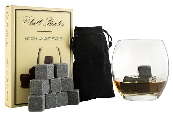 small gifts ideas for men whiskey stones