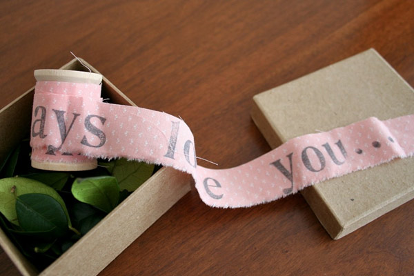 unraveling letter diy gifts for boyfriend