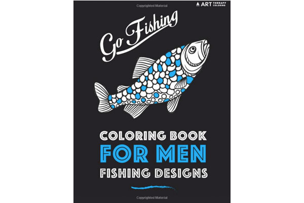 fishing gifts for dad coloring book