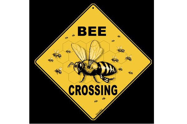 birthday gifts for beekeeper bee crossing sign