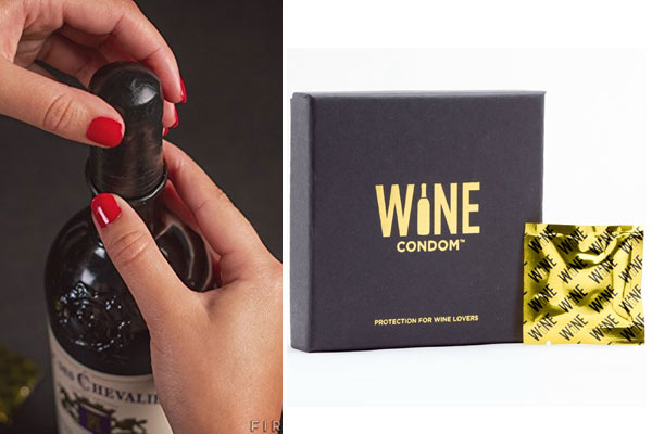 creative gifts for men wine condom
