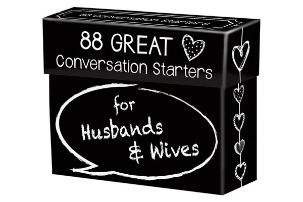 great gifts for husband conversation starter