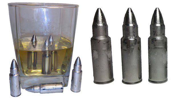 nice gifts for men bullet whisky stones