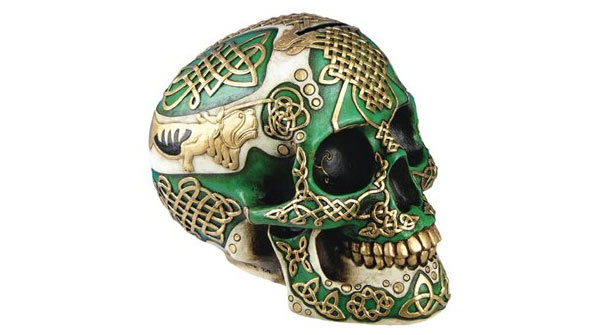 unusual gifts for men skull figurine