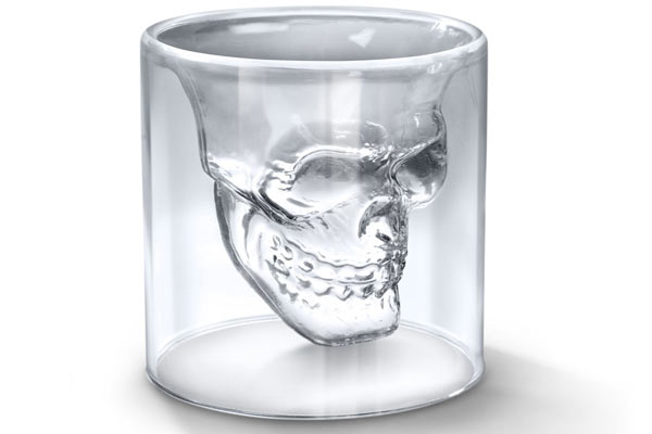 Whiskey Glass Gift Set skull shot glass