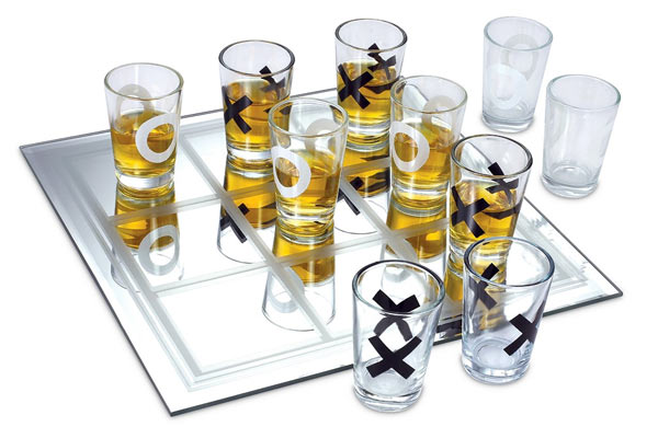 Whiskey Glass Gift Set tic tac toe