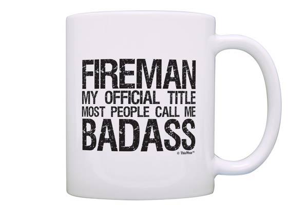 firefighter gifts for men badass mug