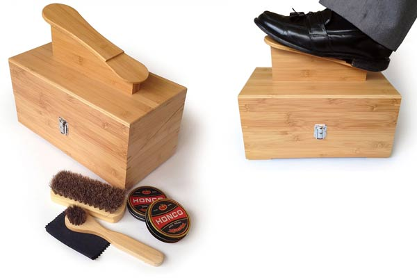 firefighter gifts for men shoe shine box