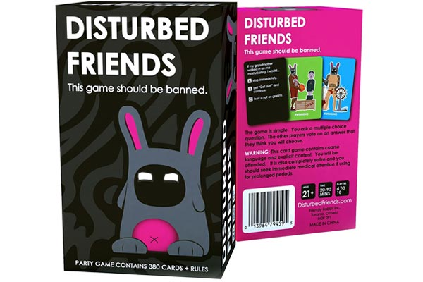 fun gifts for him disturbing card
