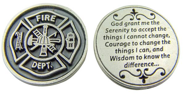 gifts for firemen religious coin