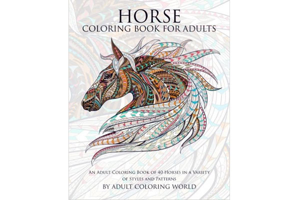 horse gifts for him coloring book