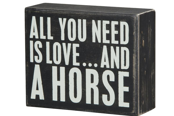 horse gifts for him sign box