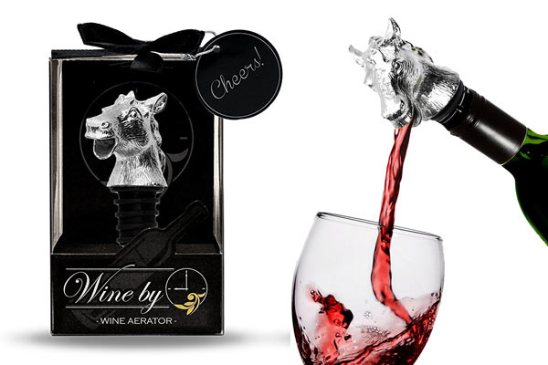 horse gifts for him wine aerator