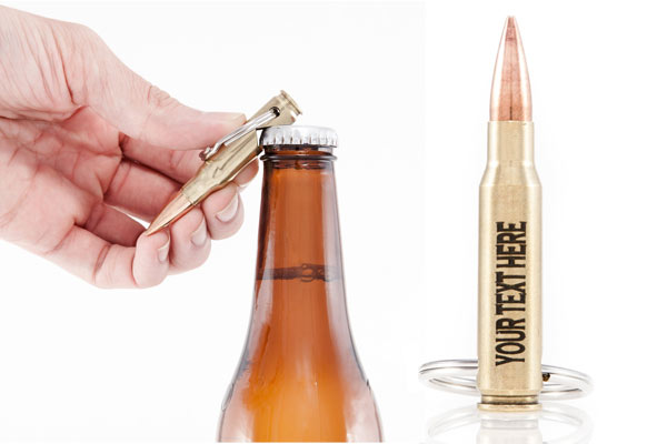 affordable gifts for him bullet shape bottle opener