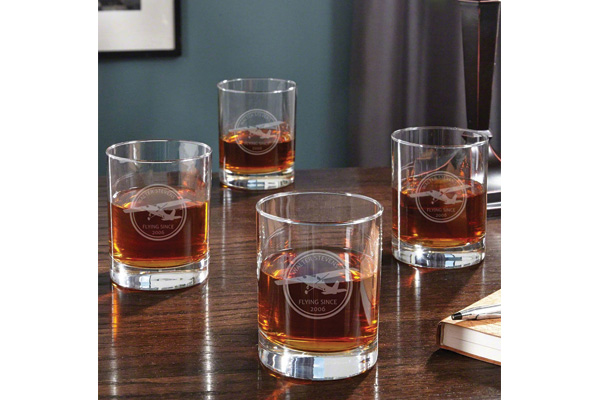 birthday gifts for airplane lover whiskey glass
