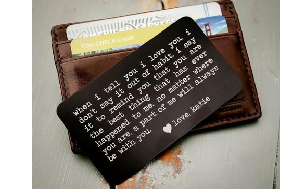 romantic birthday gifts for husband wallet insert