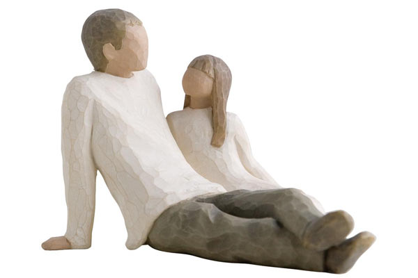 dad christmas gifts father and daughter figurine