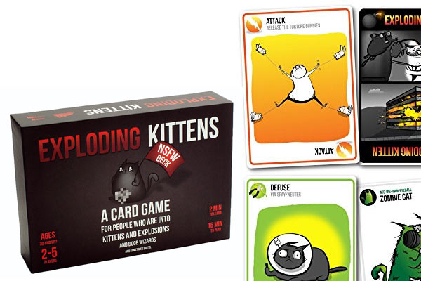 fun gifts for men exploding kitten