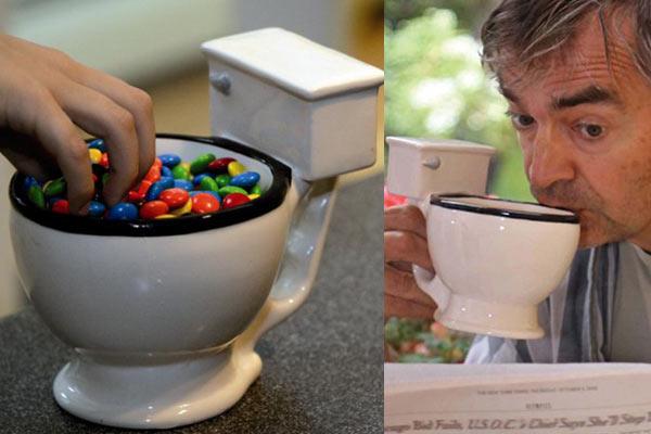 gag gifts for men toilet bowl mug