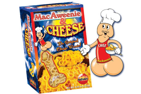 gag gifts for men weenie pasta