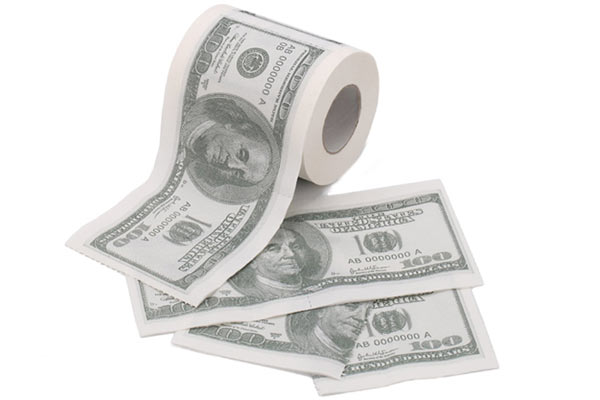good gifts for guys money toilet roll