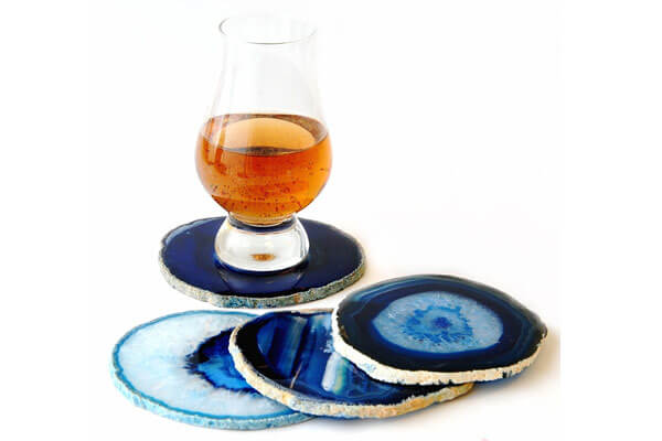 small presents for guys agate coaster