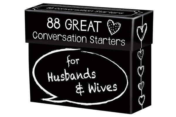 what can i get my husband for his birthday conversation starter