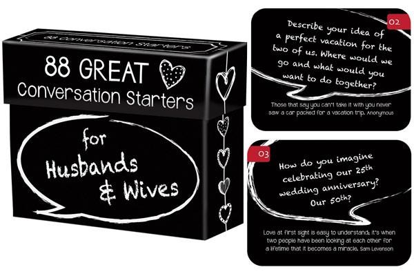 Birthday Gift For Husband Conversation Starter
