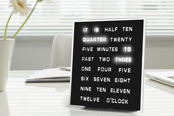 small gift ideas for coworkers LED word clock