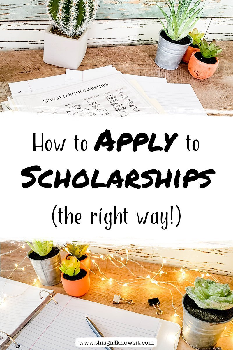 How to Apply to Scholarships (the right way!)