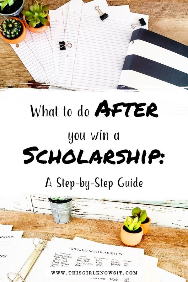 There are plenty of tips on how to win scholarships for college and university, but did you know there's also a process you need to go through after you win? This blog post will cover all of the steps you need to take after you win a scholarship. | #college #university #scholarship #highschool