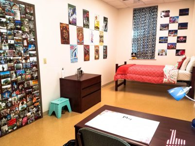 Ever wonder what a college dorm room suite looks like? This post takes you on a tour of my dorm room and what it's like to live in one, how I chose to decorate it, and which items were helpful for college life and dorm room life. #college #collegelife #dormroom #dormtour