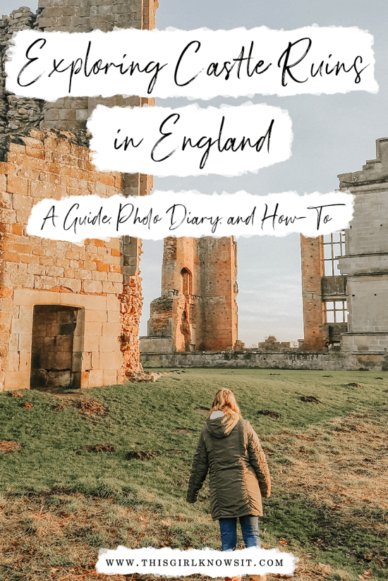 Exploring Castle Ruins in England: A Guide, Photo Diary, and How-To | While in England, I visited 4 different castles, 2 of which were (unattended) sets of ruins.  This guide takes you through those castle ruins, their history, and how you can visit castle ruins in England, as well. | #travel #england #europe #castle #castles | This Girl Knows It | www.thisgirlknowsit.com