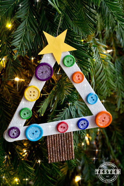 DIY Kids Christmas Tree Ornament   TGIF   This Grandma is Fun DIY Kids Christmas Tree Ornament You are going to LOVE creating these DIY  Kids Christmas Tree