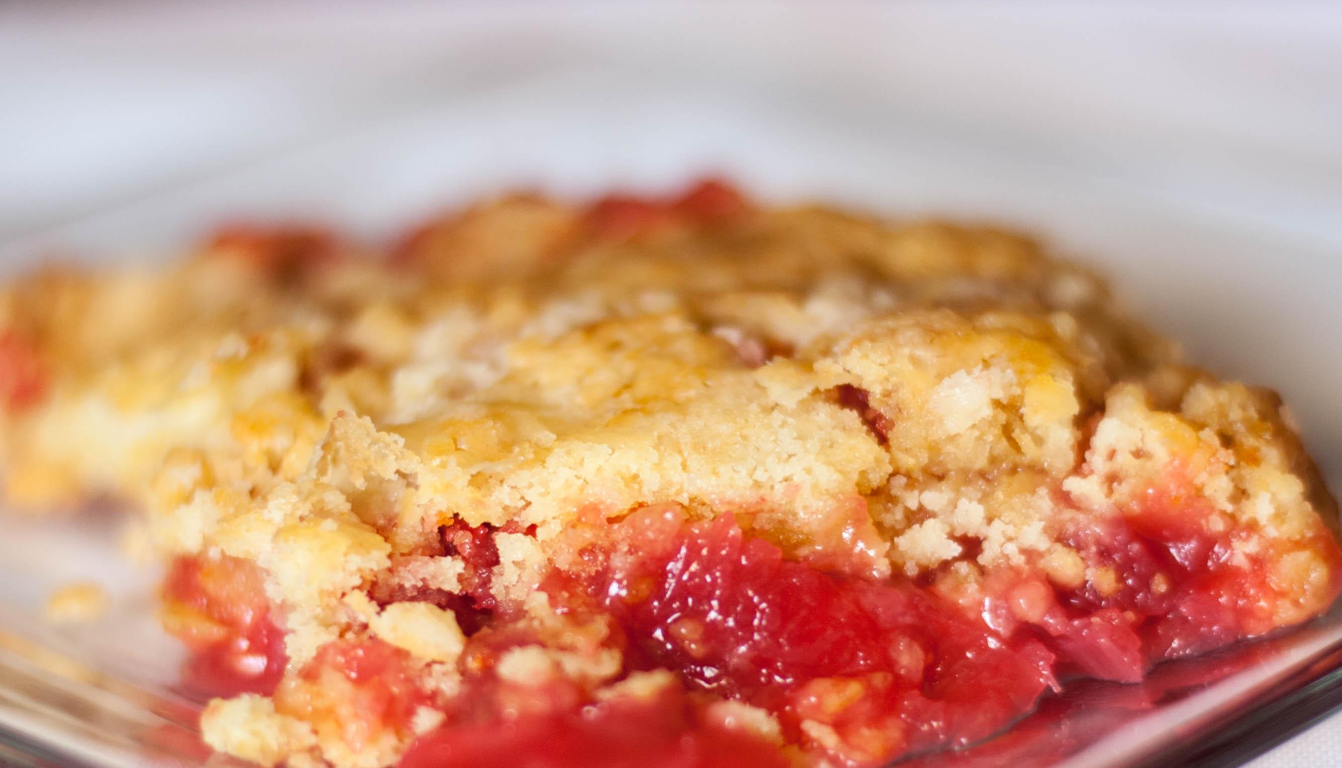 Rhubarb Dump Cake TGIF This Grandma Is Fun