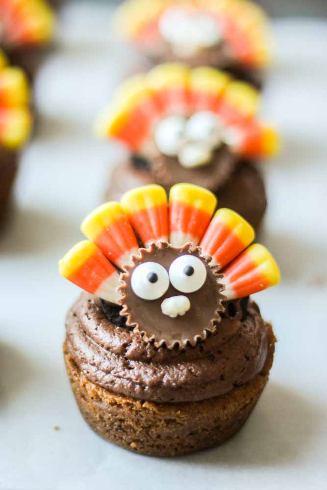 Thanksgiving Cookie Cupcakes TGIF This Grandma Is Fun
