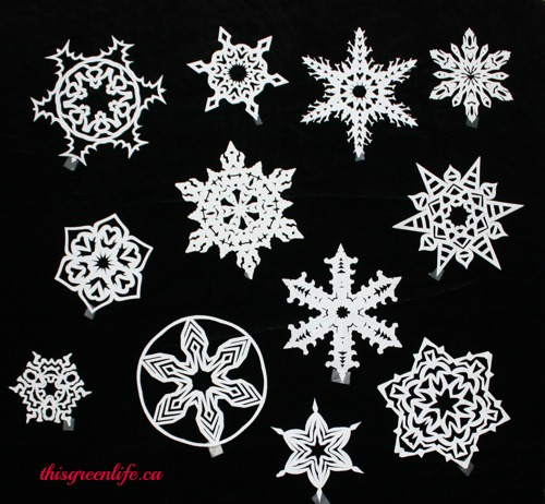 31 How To Make 6 Pointed Paper Snowflakes This Green Life