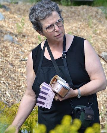 Gail Hunt in Dye Garden