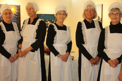 serving maids ready for duty