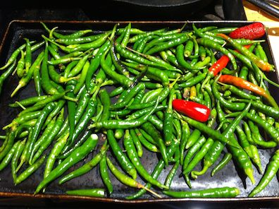 roasting hot peppers